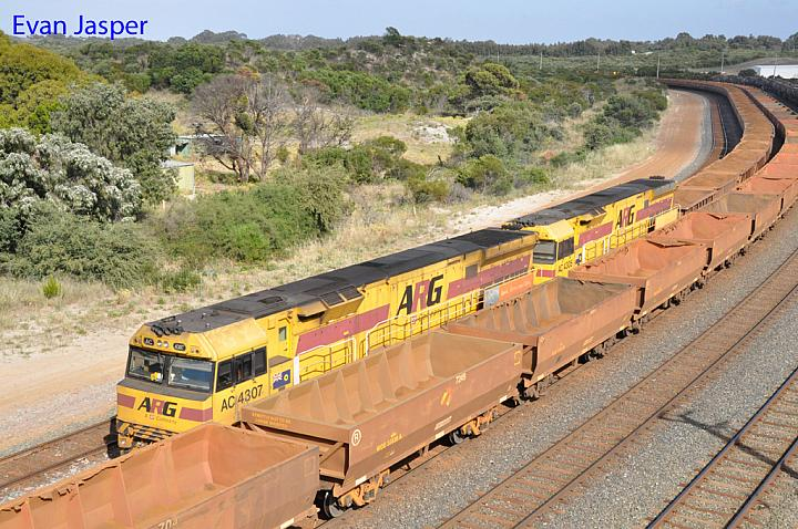 AC4307 and AC4305 on 7417 loaded iron ore train seen here arriving into Esperance Yard on the 13th November 2016