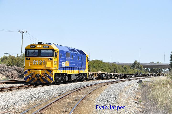 8121 on 4P61 empty wagon transfer seen here at Forrestfield South on the 21st October 2015