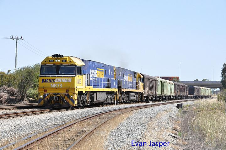 NR73 and NR15 on 3P51 sadliers shunt seen here at Forrestfield South on the 20th October 2015