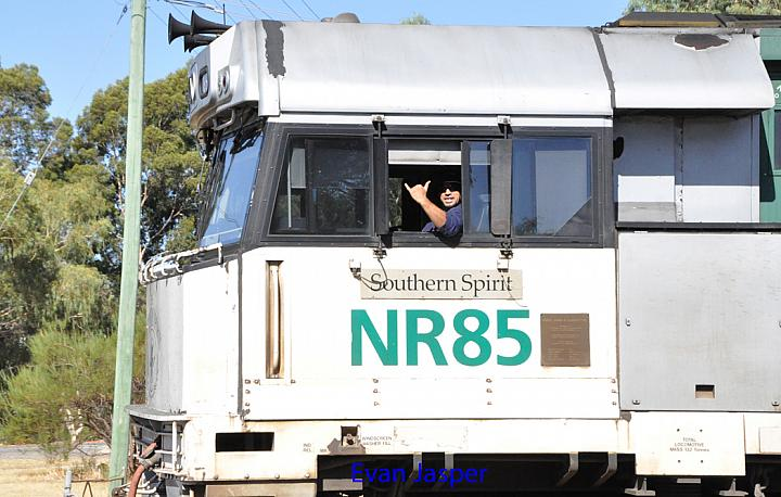 Driver Dave smiling for the camera as he works 1PM5 with NR85 on the 28th February 2016