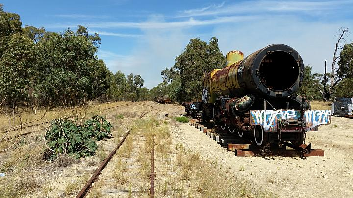PMR 735 siting in Hotham Valleys siding at Alumina Junction near Pinjarra 14th March 2016