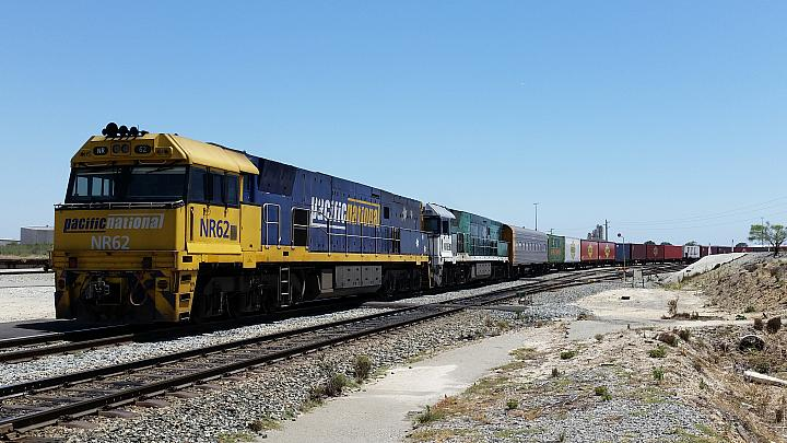 NR62 and NR85 seen here ready to depart Perth Freight Terminal on 3PS7 freighter on the 12th December 2017