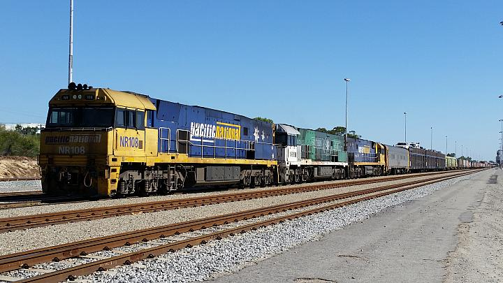 NR108, NR85 and NR6 seen here at Forrestfield yard stabling on 7PM5 freighter on the 20th January 2018