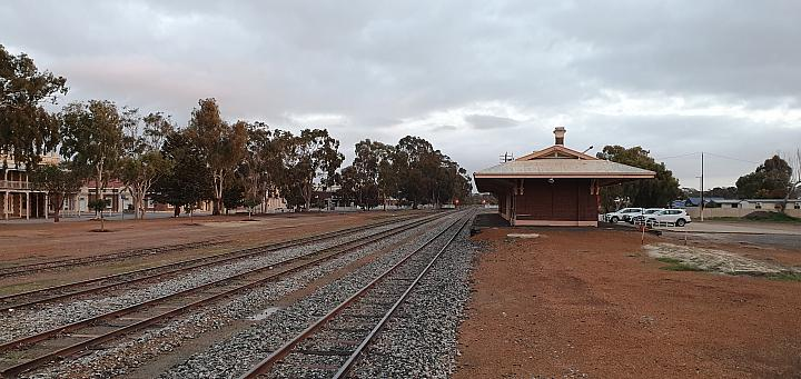 Wagin Yard and Station looking North 1st September 2019
