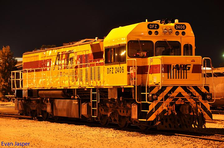 DFZ2406 with its new cab modified at Forrestfield Yard on the 26th January 2011