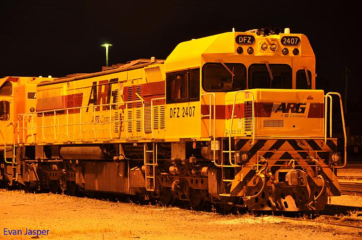 DFZ2407 with its new cab modified at Forrestfield Yard on the 20th January 2011
