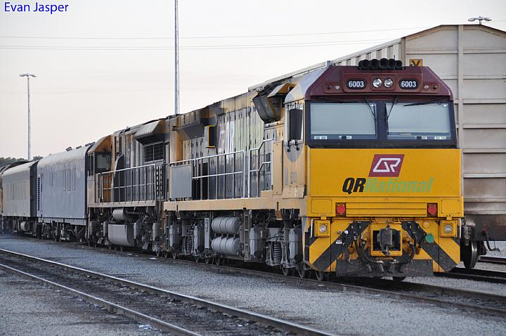 6003 and LDP006 at Forrestfield Yard on the 28th December 2010