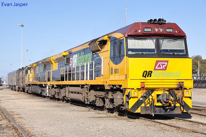 6008 and 6009 at Forrestfield Yard on the 2nd June 2011