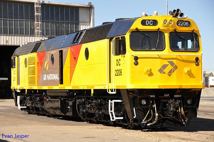 DC2206 in the QR National colours at Forrestfield Yard on the 10th February 2011