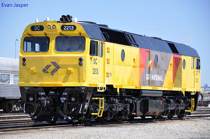 Just released from the paintshop is DC2213 at Forrestfield Yard on the 31st October 2011