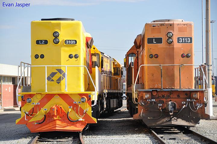 LZ3101 and L3113 at Forrestfield Yard on the 22nd January 2011