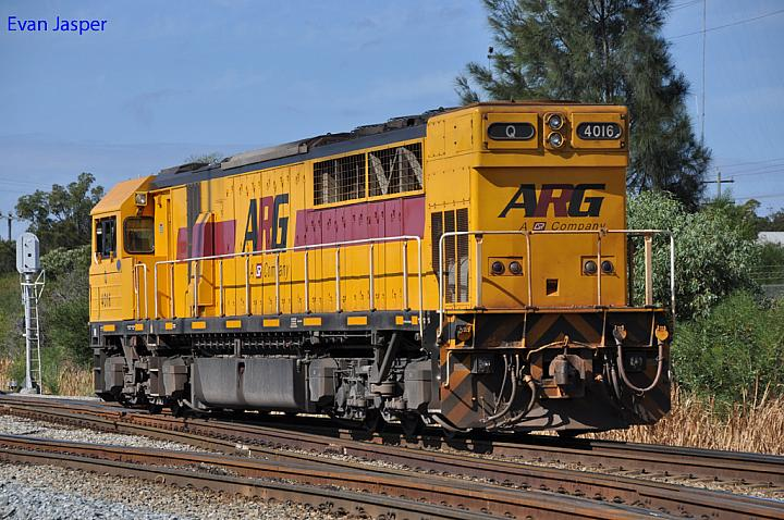 Q4016 on 7029 light engine at Forrestfield on the 16th March 2013