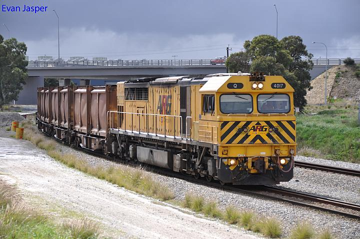 Q4017 on 2430 Sulphur train at Forrestfield South on the 13th August 2013