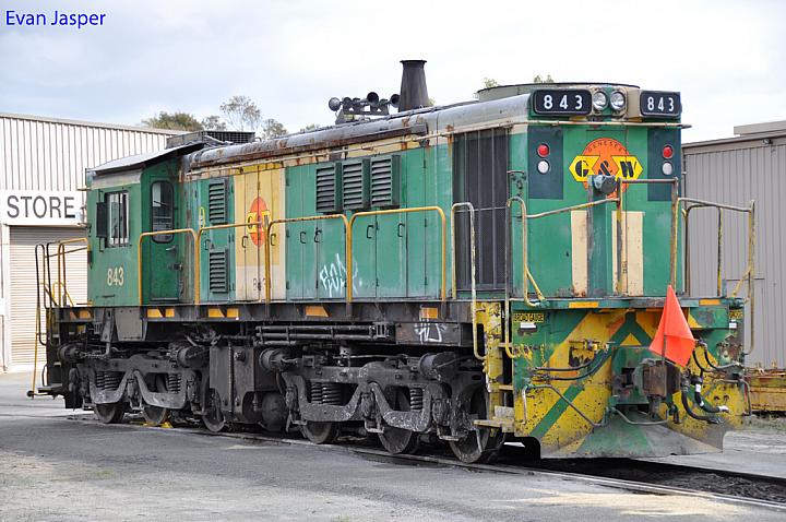 843 sits at Dry Creek's MPC on the 12th August 2012