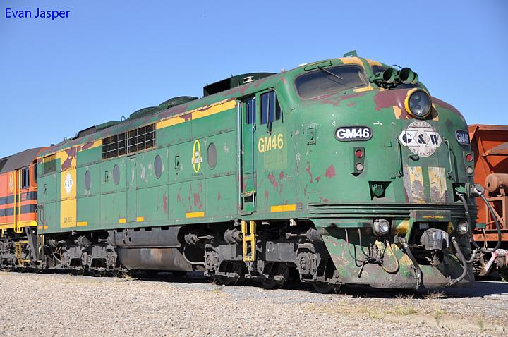 GM46 at Dry Creek Yard on the 27th January 2013