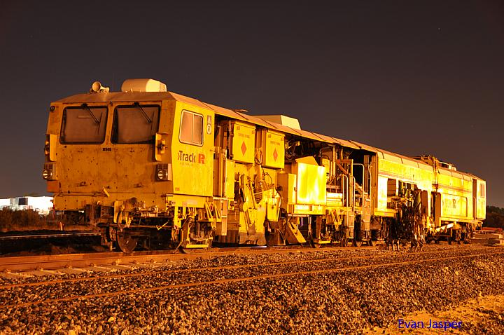 Track Machine M946 sitting in the dead end at Pacific Nationals Kewdale Yard on the 12th May 2013