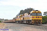 AC4304 and Q4016 on 6414 empty iron ore train seen here heading though Shark Lake on the 11th November 2016