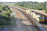 AC4304 and Q4016 on 7413 loaded iron ore train seen here arriving into Esperance yard on the 12th November 2016