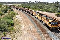 AC4306 and ACB4403 on 6417 loaded iron ore train seen here arriving into Esperance Yard on the 11th November 2016
