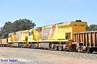 ACC6031 and ACC6030 on 7414 iron ore as DPU units on the 12th November 2016