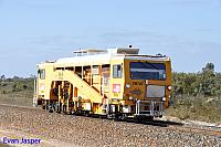 TM740 track machine heading though Shark Lake for Hampton on the 13th November 2016