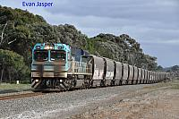 CBH012 on 3A73 loaded CBH grain train seen here heading though Cuthbert for Albany on the 21st May 2019