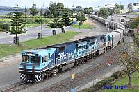 CBH014 and CBH017 on 2A73 loaded grain train seen here arriving into Albany on the 2nd June 2014