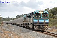 CBH015 and CBH013 on 1A32 empty grain train is seen here powering though Redmond for Wagin on the 1st June 2014