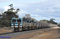 CBH017 and CBH016 on 3A82 empty CBH grain train seen here heading though Tenderden for Wagin on the 21st May 2019