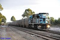 CBH017 on 1A83 loaded CBH grain train seen here powering though Narrikup on the 15th February 2015