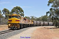 DBZ2305, DBZ2302 and DBZ2301 on 1K03 empty CBH grain train seen here arriving into Brookton CBH on the 5th January 2020