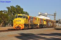 DBZ2309 and DBZ2311 on 5305 loco and wagon transfer from Forrestfield to Albany seen here heading though Kokeby on the 4th January 2019
