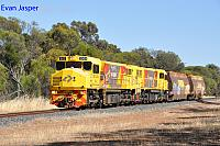 DBZ2309 and DBZ2311 on 5305 loco and wagon transfer from Forrestfield to Albany seen here heading though Highbury on the 4th January 2019
