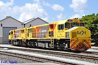 DBZ2309 and DBZ2311 is seen here stabled at Albany yard on the 14th February 2015
