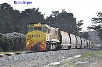 DBZ2309 on 2603 loaded woodchip woodchip train seen here heading though Marbellup for Albany on the 2nd September 2019