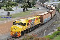 DBZ2309 on 2603 loaded woodchip train seen here arriving into Albany on the 15th October 2018