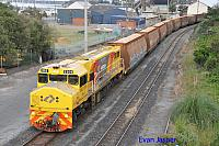 DBZ2309 on 3601 loaded woodchip train seen here heading though Albany on the 16th October 2018