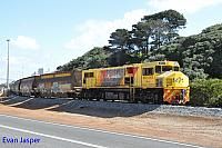 DBZ2309 on 3603 woodchip train seen here approaching the unloader at the Albany Port on the 2nd September 2019