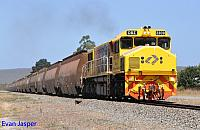 DBZ2309 on 6604 empty woodchip train seen here powering though Elleker on the 13th February 2015
