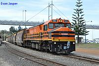 DBZ2310 on 3604 empty woodchip train seen here departing Albany on the 16th October 2018