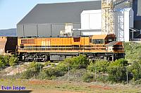 A close up photo of DBZ2310 unloading woodchips in Albany on the 17th October 2018