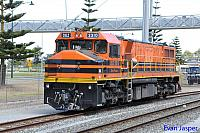 After a few days working ballast trains DBZ2310 on 7WB1 light engine is seen here arriving into Albany on the 14th February 2015