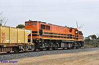 DBZ2310 on 5WB2 loaded ballast train departing Cranbrook on the 12th February 2015