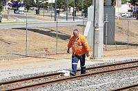 Second man Peter seen here locking up Albany Depot service line after the arrival of DBZ2310 14th February 2015