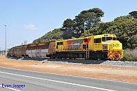 DBZ2311 on 6603 loaded woodchip train seen here arriving into the Albany unloader on the 13th February 2015