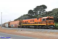 P2503 on 5603 loaded woodchip train seen here arriving into the Albany unloader on the 29th October 2015