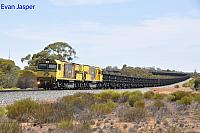 ACN4146 and ACN4175 on 1763 loaded Karara iron ore train seen here heading though Tarden on the 26th January 2020