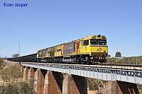 ACN4148 and ACN4144 on 6763 loaded Karara iron ore train seen here heading though Erandu on the 22nd February 2019