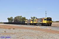 ACN4151 and ACN4149 on 7763 loaded Karara iron ore train seen here heading though Mullewa on the 23rd February 2019