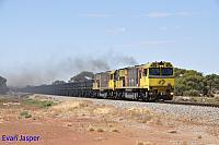 ACN4151 and ACN4149 on 7763 loaded Karara iron ore train seen here heading though Tenindewa on the 23rd February 2019
